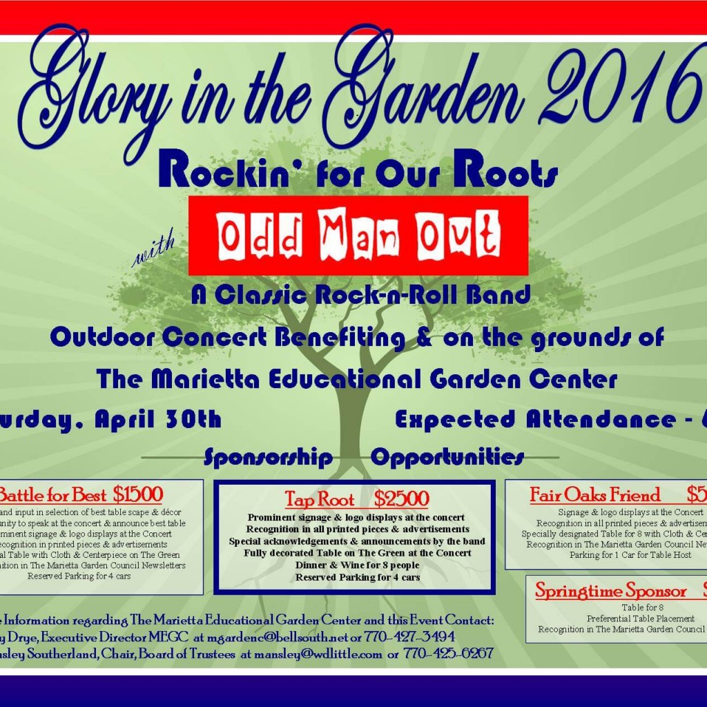 Glory in the Garden 2016 Sponsorships